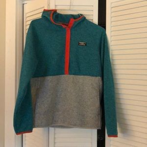 LL Bean fleece pullover hoodie size medium